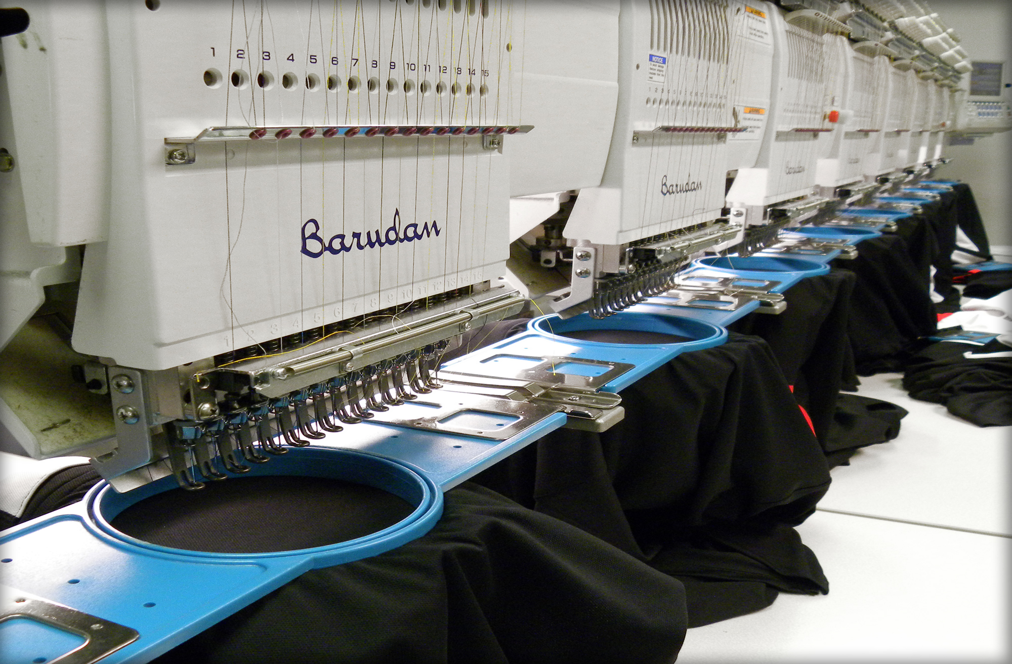 At Hittn' Skins We Use Top Of The Line Barudan Embroidery Machines That Are  Capable Of Sewing A Wide Array Of Custom Products This Has Helped Us To  Become